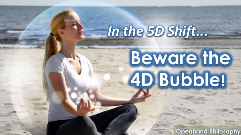 4D Bubble in the 5D Shift