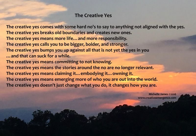 The Creative Yes