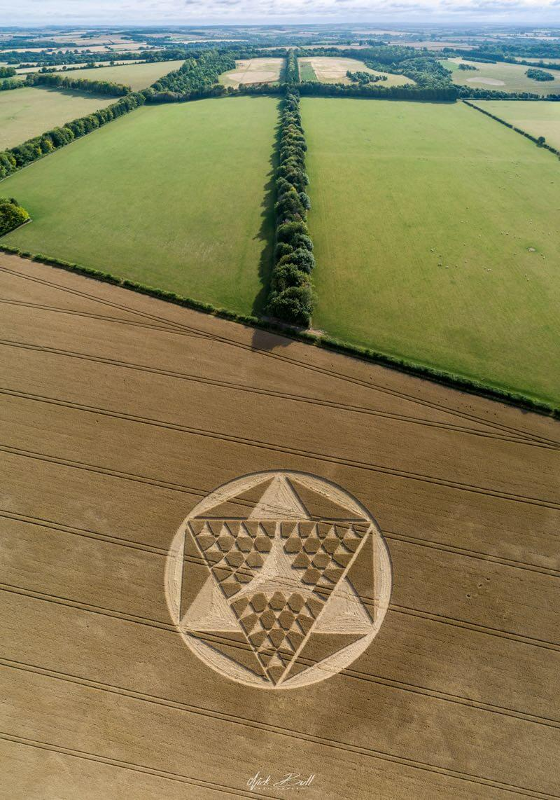 Barton Stacy Crop Circle - the Merkabah