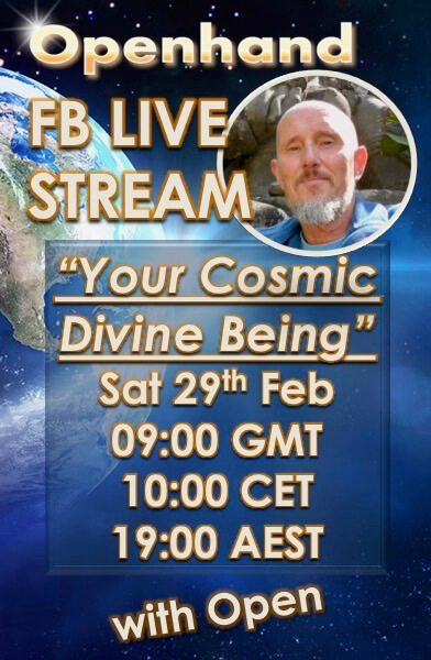 Cosmic Divine Being FB Live Stream with Open