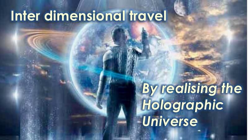 Interdimensional Travel through Holographic Universe
