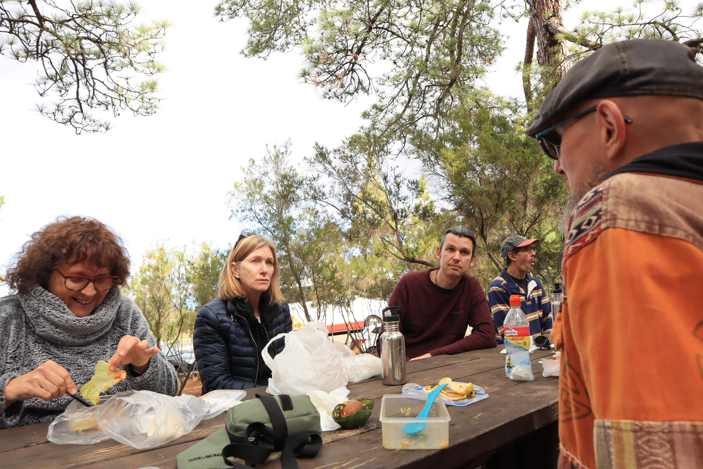 Openhand La Palma Retreat 2020 - lunch at the market