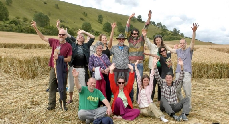 Avebury Summer School 19 - Crop Circle Group Photo
