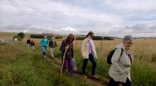Avebury Summer School 19 - Walking to Neolithic site